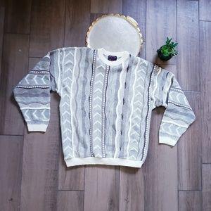 Milford Vintage Crew Sweater Coogi Style XL
